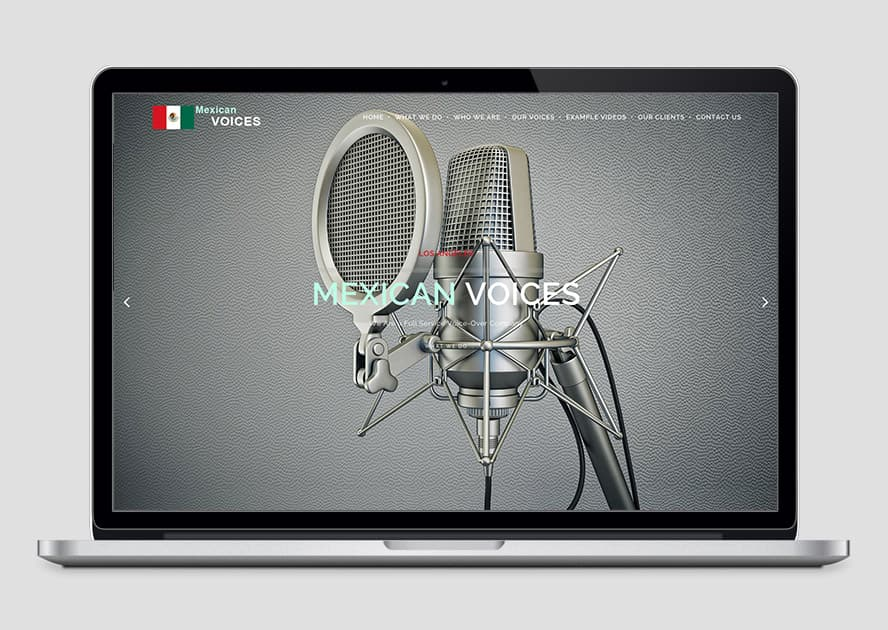 Mexican Voices - Web-Design for Voice-Over Company