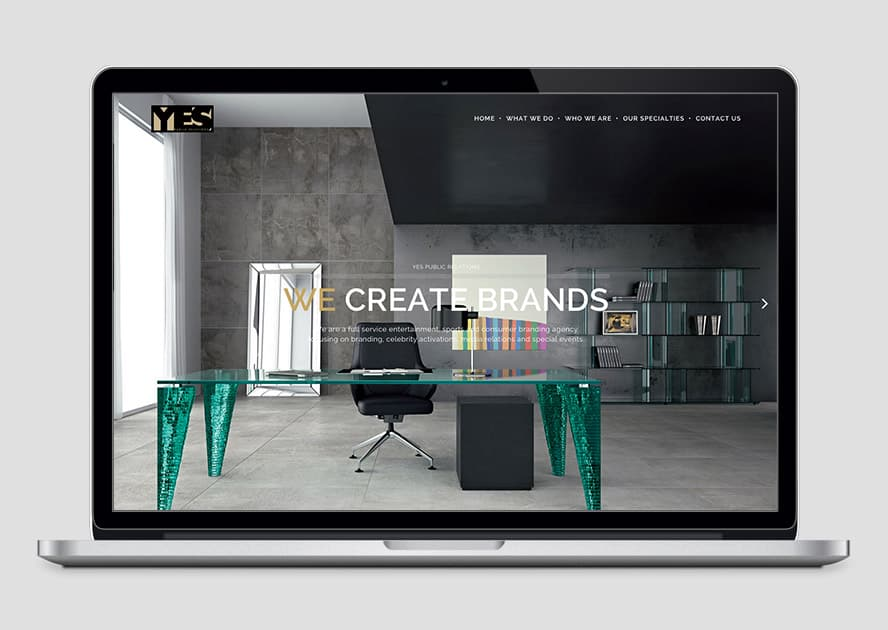 YES Public Relations - Web-Design for a Public Relations Company