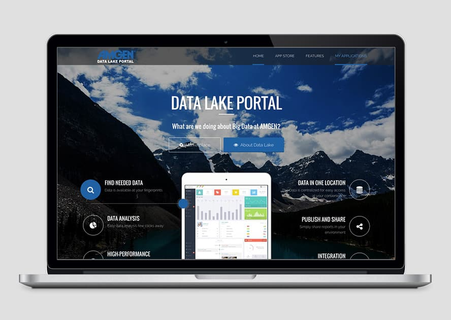 Web Design for Amgen DataLake