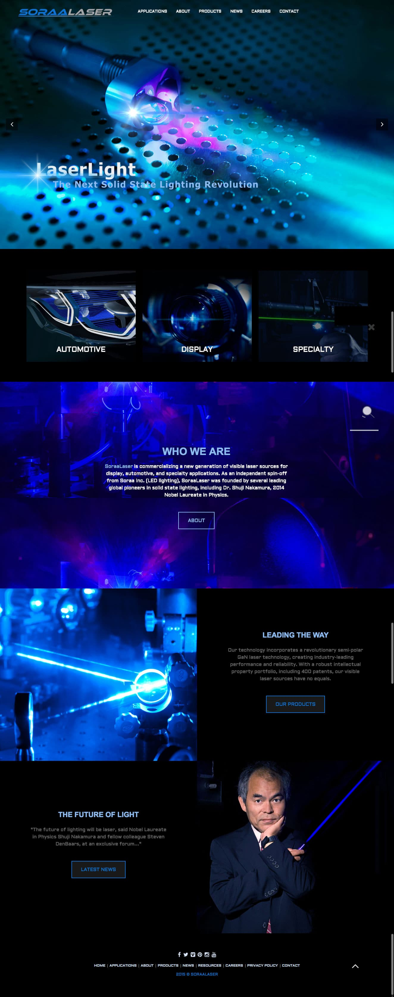 Web Design for Soraa Laser | Los Angeles