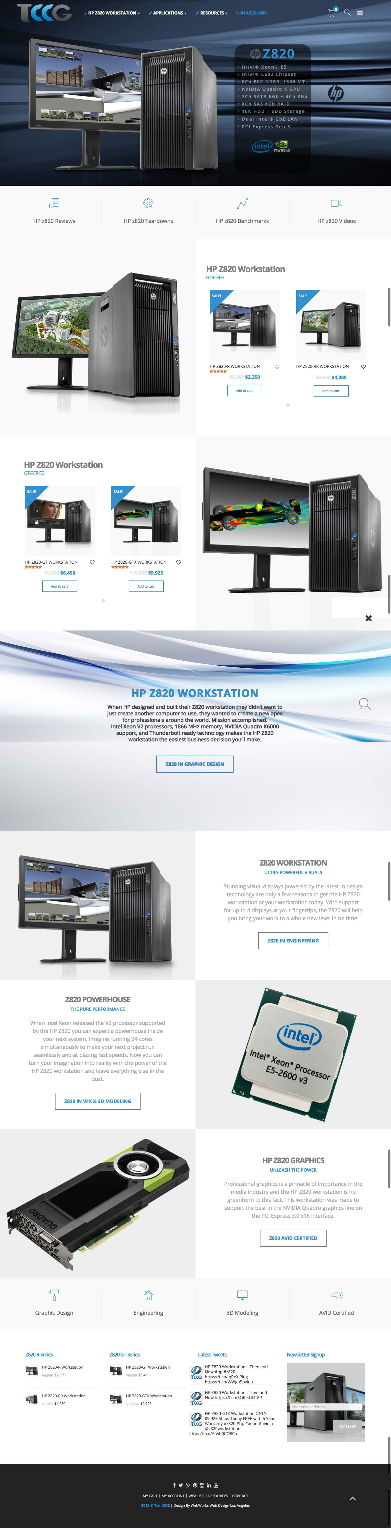Web Design for TwinnCCG | Los Angeles