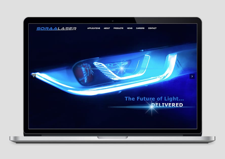 Web Design for Soraa Laser