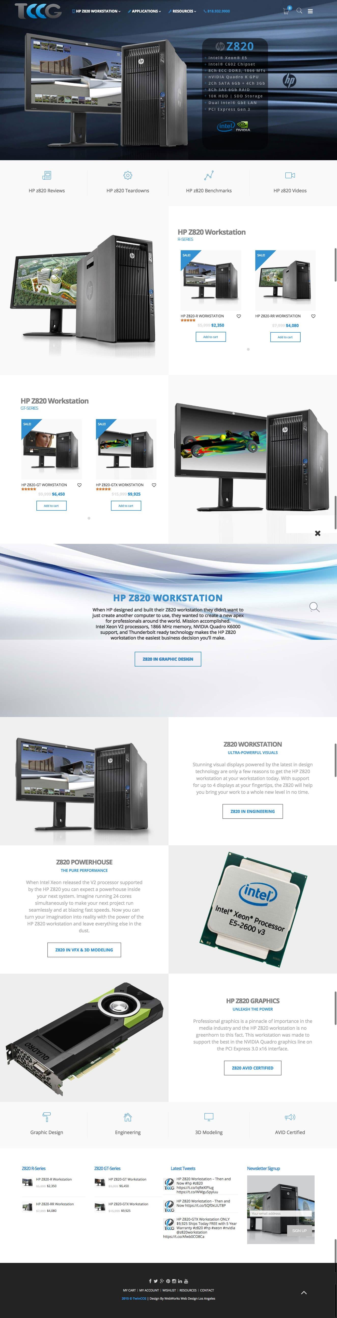 WebWorks Web Design Los Angeles - Twin CCG