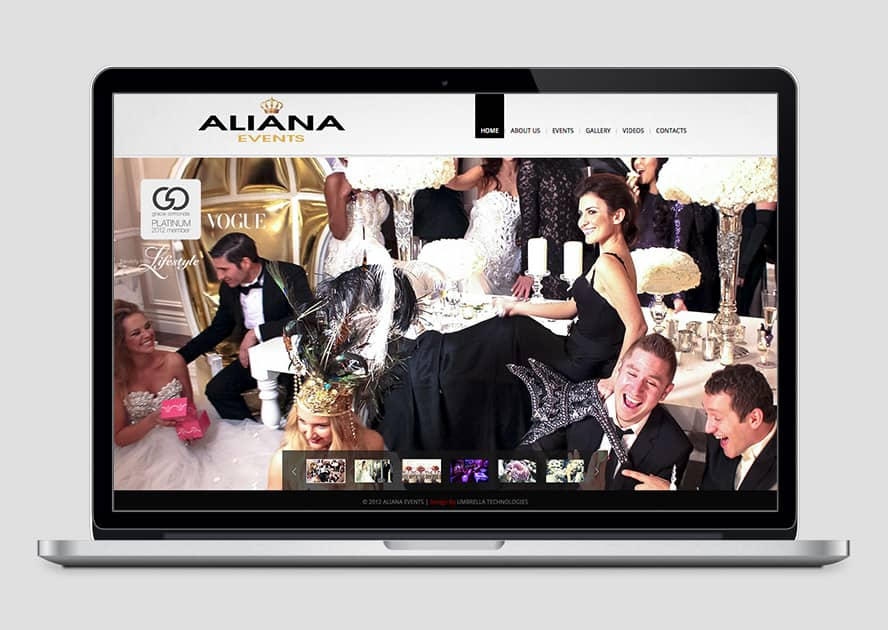 WebWorks Web Design Los Angeles - Aliana Events 2019