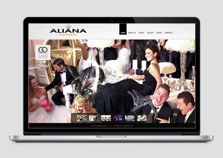 WebWorks Web Design Los Angeles - Aliana Events 2019