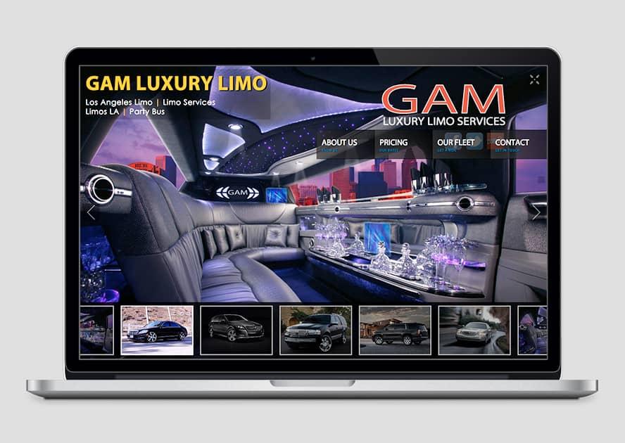 WebWorks Web Design Los Angeles - Gam Luxury Limo 2019
